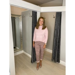 Lucy Cobb Amur Leopard Magic Trousers - Rose