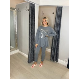 Lucy Cobb Chyna Lounge Set in Silver Grey