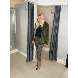 Lucy Cobb Fleur Faux Fur Hooded Jacket - Green