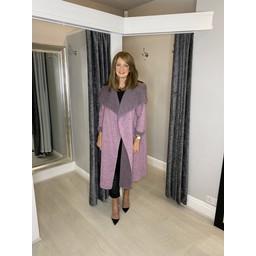 Lucy Cobb Jasmine Wool Coat in Baby Pink