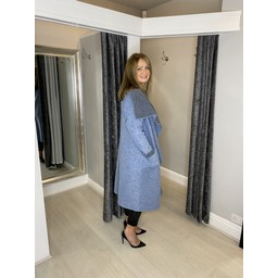 Lucy Cobb Jasmine Wool Coat in Baby Blue