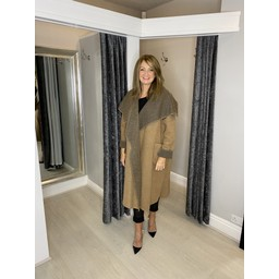 Lucy Cobb Jasmine Wool Coat in Camel