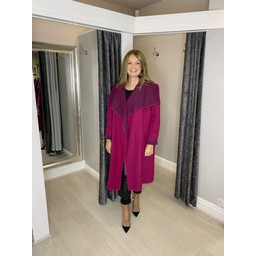 Lucy Cobb Jasmine Wool Coat in Fuchsia