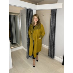Lucy Cobb Jasmine Wool Coat in Mustard