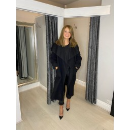 Lucy Cobb Jasmine Wool Coat in Black