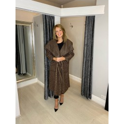 Lucy Cobb Jessica Boucle Coat in Mocha