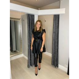 Lucy Cobb Petra Pleather Tunic - Black