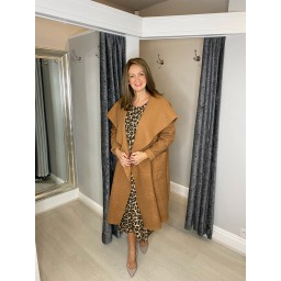 Lucy Cobb Jessica Boucle Coat in Camel