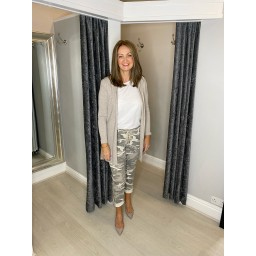 Lucy Cobb Camo Magic Trousers in Stone