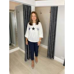 Lucy Cobb Orion Star Jumper in Ivory