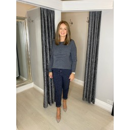 Lucy Cobb Super Soft Luxury Star Jumper in Charcoal