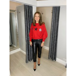 Lucy Cobb Orion Star Jumper in Red