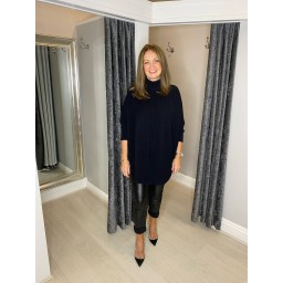 Lucy Cobb Rosa Roll Neck Jumper in Black