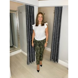 Lucy Cobb Curve Large Camo Magic Joggers Curve in Khaki