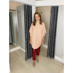 Lucy Cobb Rosa Roll Neck Jumper in Blush Pink