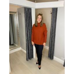 Lucy Cobb Janette Jumper in Rust