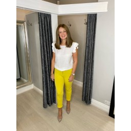Lucy Cobb Tie Waist Joggers - Yellow