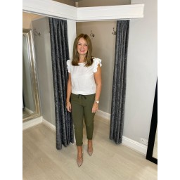 Lucy Cobb Magic Joggers (Clara Crinkle) in Khaki