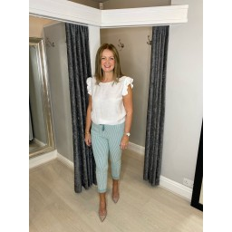 Lucy Cobb Pinstripe Crinkle Joggers - Mint