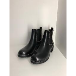 Lucy Cobb Footwear Stella Stud Chunky Boots - Black