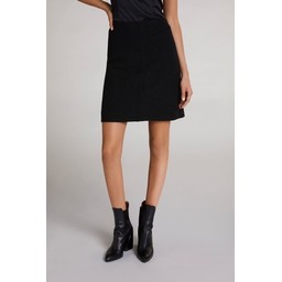 Oui Wool Mini Skirt - Black