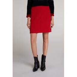 Oui Wool Mini Skirt - Red