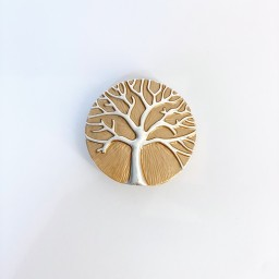Lucy Cobb Jewellery Tree Of Life Strong Magnetic Brooch in Bronze
