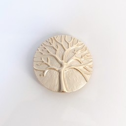 Lucy Cobb Jewellery Tree Of Life Strong Magnetic Brooch in Champagne