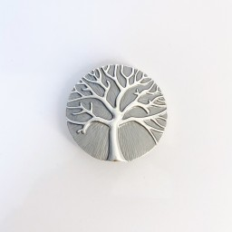 Lucy Cobb Accessories Tree Of Life Strong Magnetic Brooch in Grey