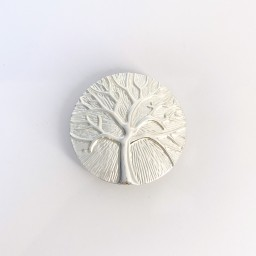 Lucy Cobb Jewellery Tree Of Life Strong Magnetic Brooch in Silver