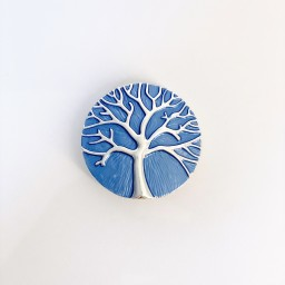Lucy Cobb Accessories Tree Of Life Strong Magnetic Brooch in Royal