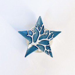 Lucy Cobb Accessories Star Tree Of Life Strong Magnetic Brooch - Denim Blue
