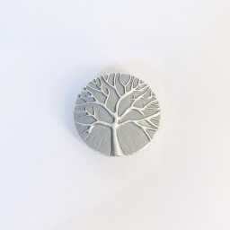 Lucy Cobb Jewellery Small Tree Of Life Strong Magnetic Brooch in Silver