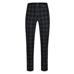 Robell Trousers Rose Tartan Full Length Trousers - Black (90)