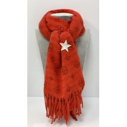 Lucy Cobb Accessories Louisa Scarf - Red