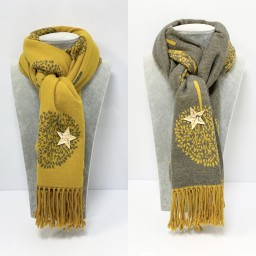 Lucy Cobb Willow Reversible Pashmina in Mustard