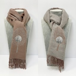 Lucy Cobb Willow Reversible Pashmina in Blush Pink