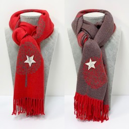 Lucy Cobb Willow Reversible Pashmina in Red