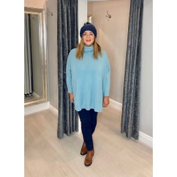 Lucy Cobb Claudia Jumper in Sea Blue