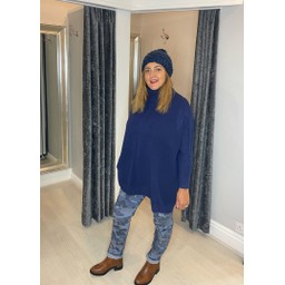 Lucy Cobb Claudia Jumper in Navy