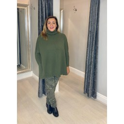 Lucy Cobb Claudia Jumper in Khaki