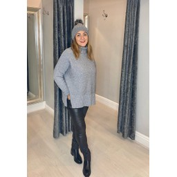 Lucy Cobb Janette Jumper in Marl Grey