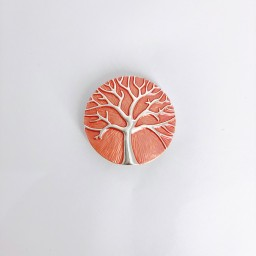 Lucy Cobb Accessories Tree Of Life Strong Magnetic Brooch in Burnt Orange