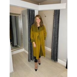Lucy Cobb Jasmine Wool Coat in Mustard