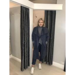 Lucy Cobb Jade Coat in Denim Blue