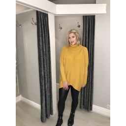 Lucy Cobb Josie Roll Neck jumper in Mustard