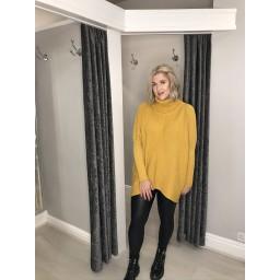 Lucy Cobb Josie Roll Neck jumper - Mustard