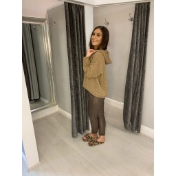 Lucy Cobb Pacha Pleather Crinkle Joggers in Chocolate