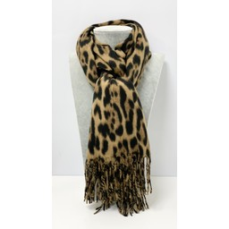 Lucy Cobb Accessories Lyla Leopard Scarf in Camel