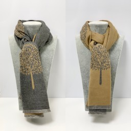 Lucy Cobb Accessories Winnie Reversible Pashmina in Camel